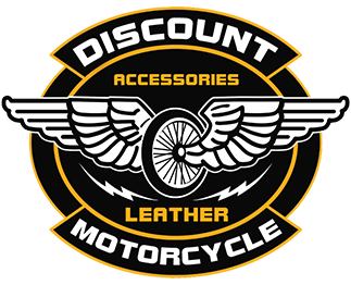 discount motorcycle leather logo